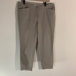 Eileen Fisher Organic Cotton Tan Pants M